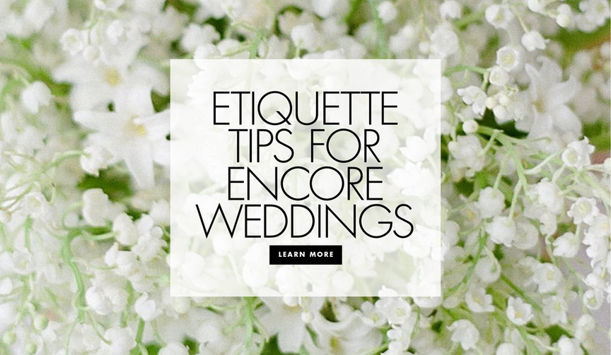 etiquette to having a second wedding