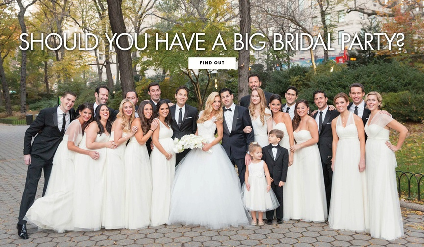 should you have a big bridal party? pros and cons of having a lot of bridesmaids