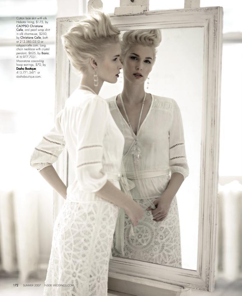 ea97511c86c Wedding Dresses Photos - Lace Skirt and Wrap Shirt - Inside Weddings