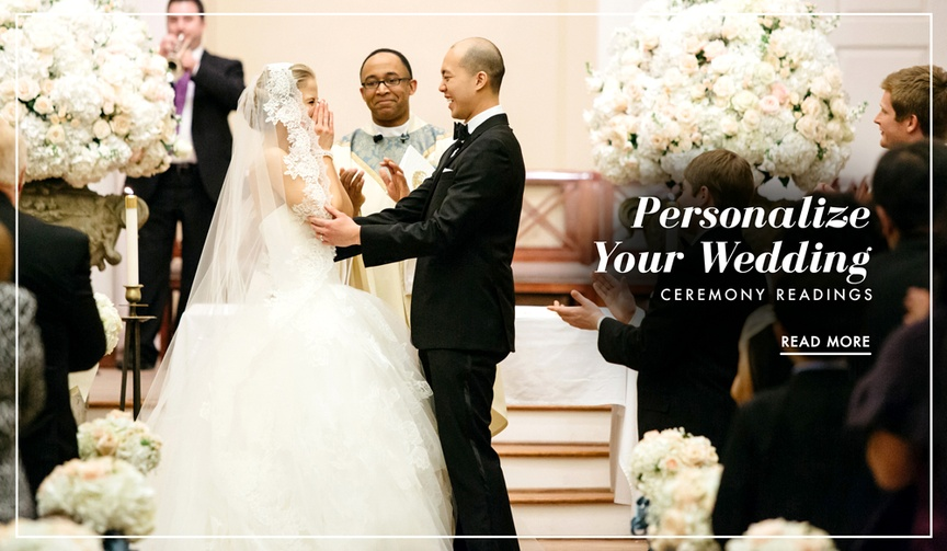 How to personalize your wedding ceremony with creative ceremony readings