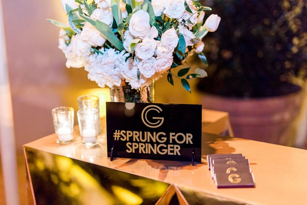 Wedding reception george springer iii houston astros mlb baseball player hashtag sprung for springer