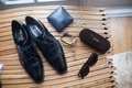 Groom accessories prada dress shoes and tom ford sunglasses wallet watch