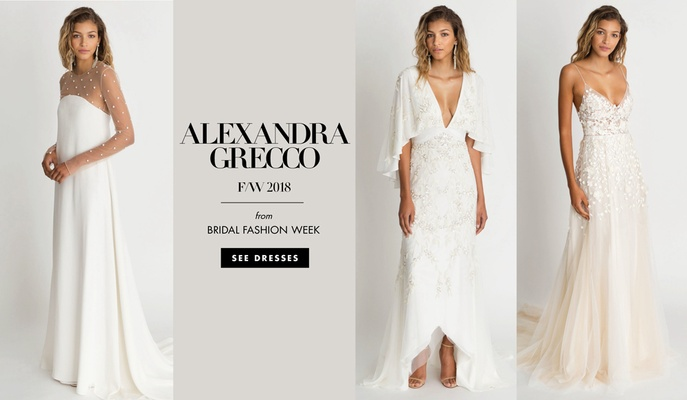 "Alexandra Grecco fall winter 2018 ""The Magic Hour"" wedding dress bridal gowns"