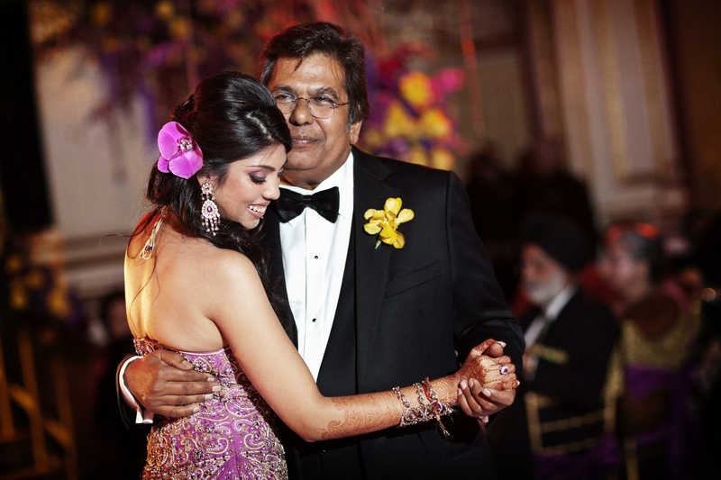 Guests Family Photos Father Daughter Dance In Purple Reception