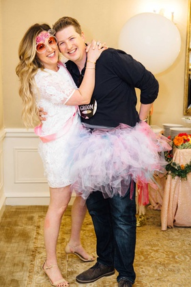 bridal shower wedding shower ideas bride to be sunglasses pink sash and tutu for groom fun games