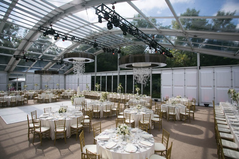 Air-Conditioned Glass Tent & Reception Décor Photos - Air-Conditioned Glass Tent - Inside Weddings