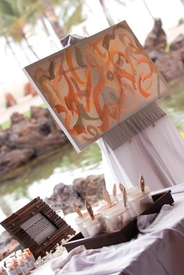 Art station where each guest painted one stroke