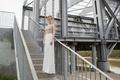 Limor Rosen 2017 Lauren wedding dress high neck sleeveless top with crepe georgette skirt