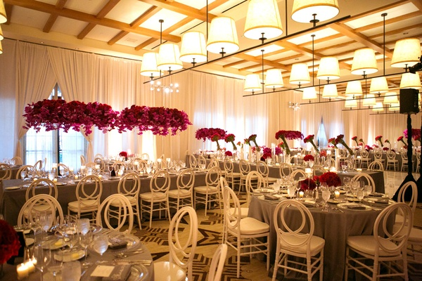 All White Indoor Wedding Ceremony Site: Seaside Ceremony + Reception With Bright Details In