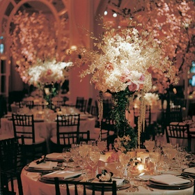 Reception centerpieces and decorations with flowers