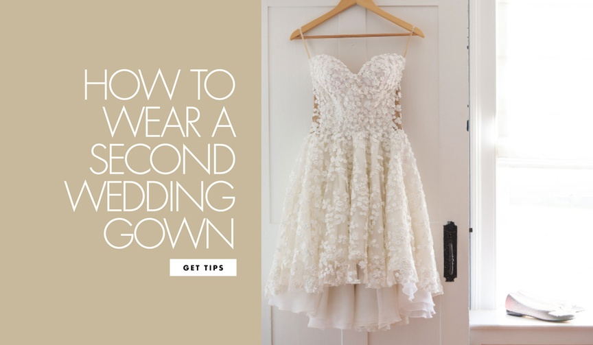 There are a few logistics to consider if you decide to have a reception dress.
