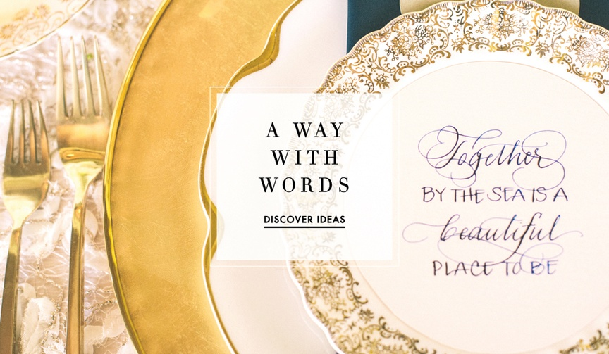 Inside weddings wedding planning and inspiration news article learn how to display quotes at your wedding stopboris Images