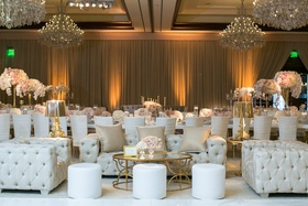 four seasons westlake village ballroom, chandeliers, lounge area
