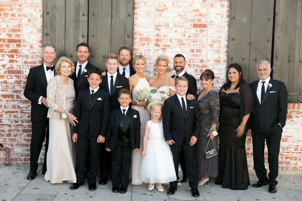 Wedding guests and family at brittany daniel actress and adam touni wedding downtown los angeles