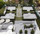 bird's eye view of rooftop ceremony at the london west hollywood