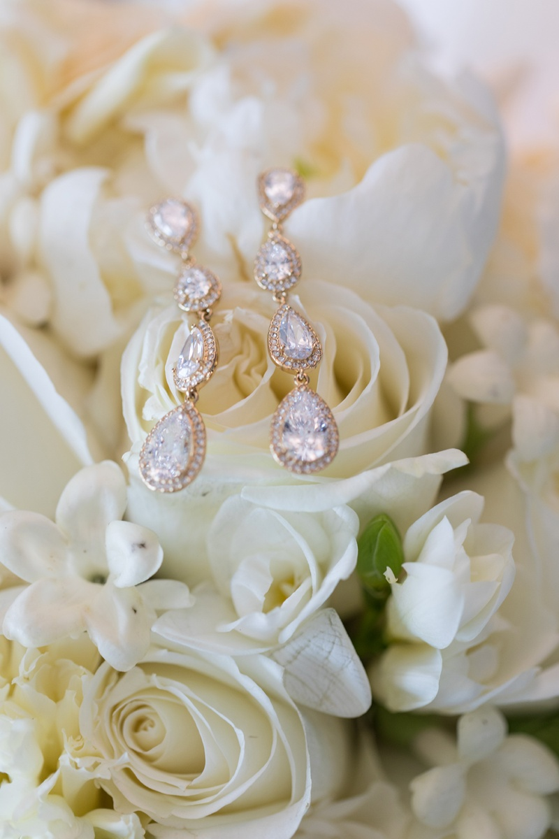 pear-shaped crystals with halo earrings, nadri earrings for wedding