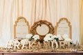 Glitz & Glam escort card table for a wedding at Bacara