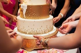 cinta de torta, peruvian cake pull tradition, pull ribbons from wedding cake