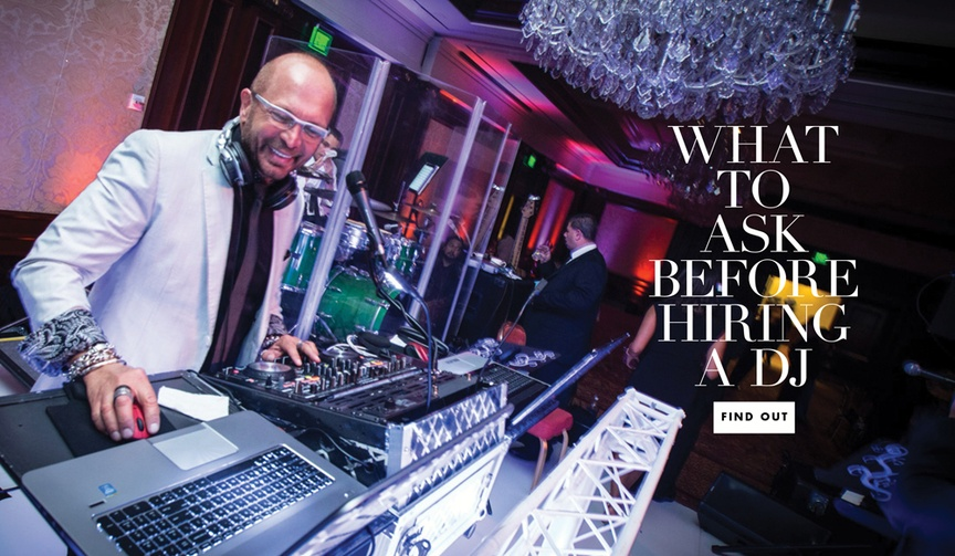 What questions to ask before hiring a dj for your wedding day