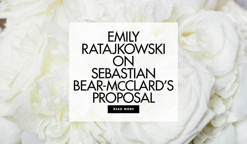 Emily Ratajkowski on her marriage and proposal with Sebastian Bear-McClard