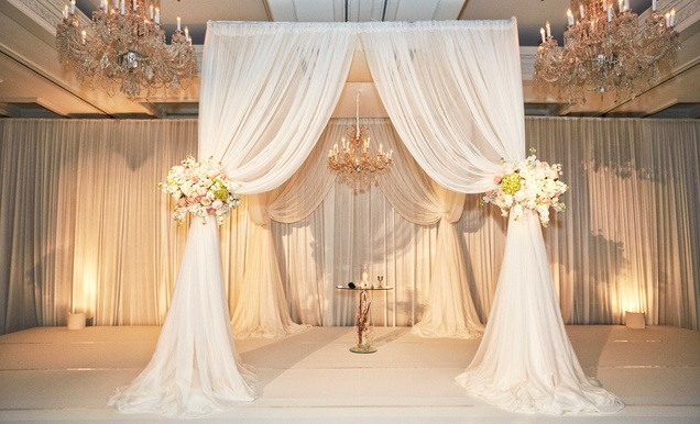 Elegant Wedding with Blush, Ivory, and Gold Palette in Chicago