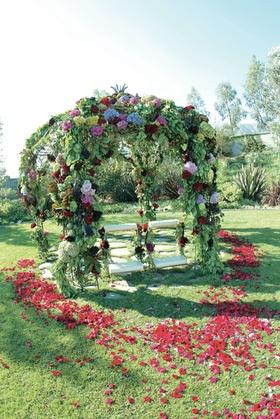 Gazebo decorated with flowers