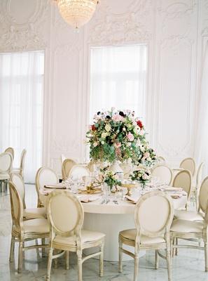 wedding reception mariana paola vicente and kike hernandez puerto rico round table greenery burgundy