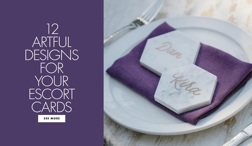 12 escort name card designs wedding reception written calligraphy paper goods unique ideas