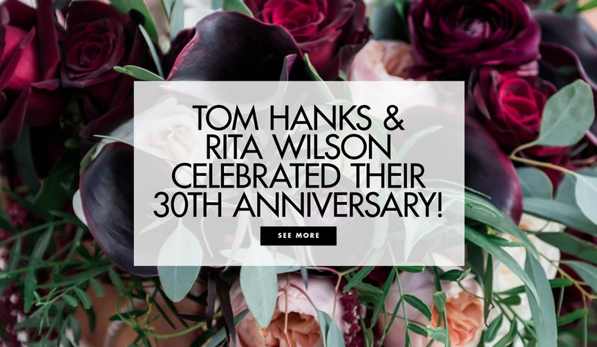 Tom Hanks and Rita Wilson celebrated their 30th wedding anniversary