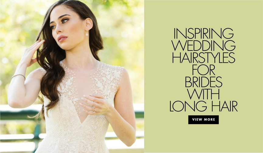Inspiring wedding day hairstyles for brides with long hair