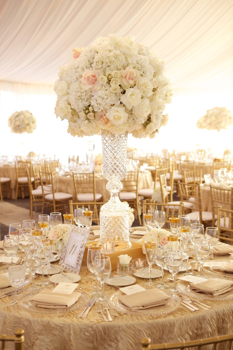 Reception Dcor Photos Elegant Crystal Centerpiece
