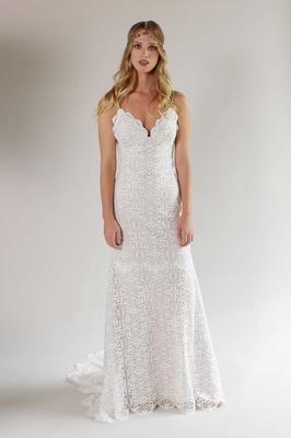 Romantique by Claire Pettibone Spring 2017 California Dreamin' Malibu wedding dress crochet lace