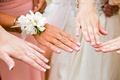 heart shaped ring worn by bride, mother of the bride, and sisters bridesmaid maid of honor