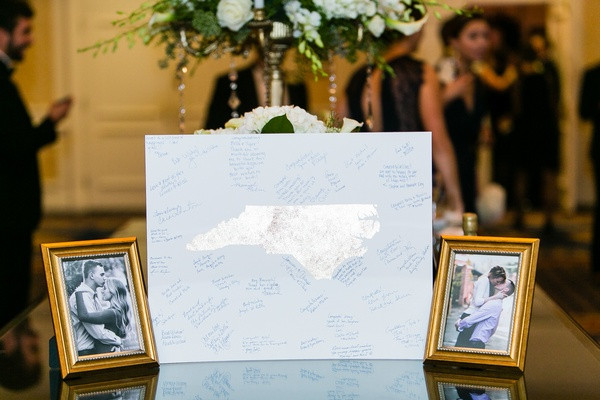 Guestbook alternative on North Carolina metallic print