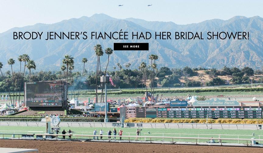 Kaitlynn Carter bridal shower at santa anita race track brody jenner fiancee