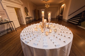 excort table with centerpiece of candles