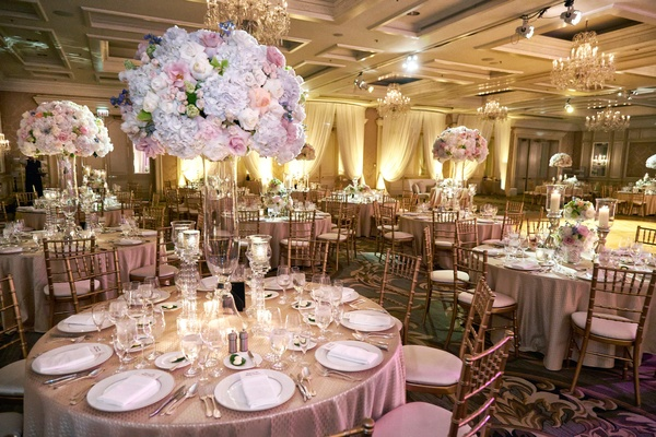 Modern wedding with soft color palette and personalized details wedding at four seasons chicago with soft colors junglespirit