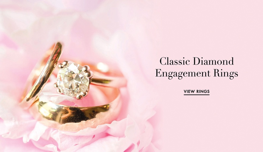 Solitaire engagement ring round cut diamond