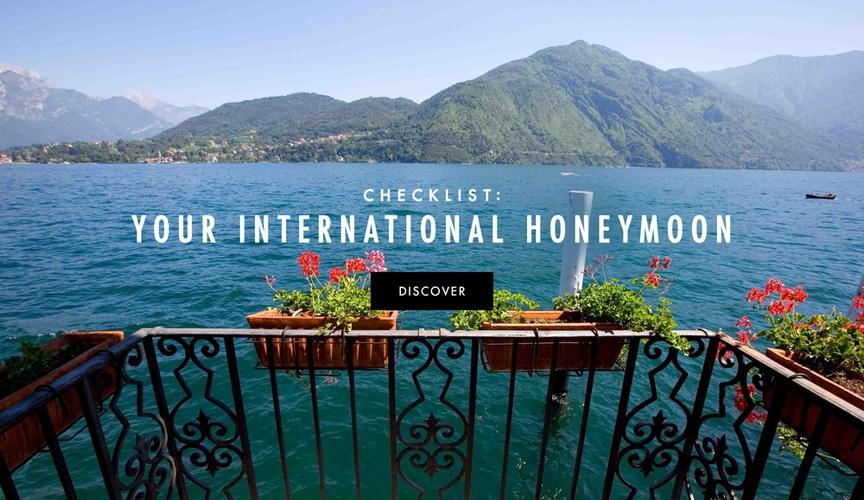a checklist in preparation for your international honeymoon