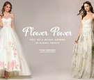 Fall 2016 wedding dresses with flower prints