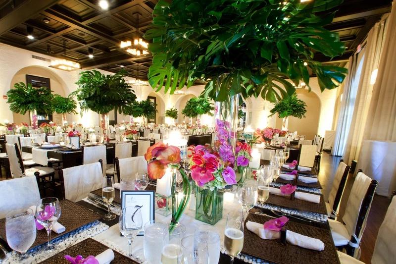 Reception Dcor Photos Tropical Indoor Reception Inside Weddings