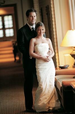 Carolina Herrera strapless wedding dress