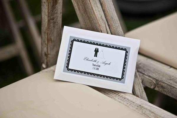 White paper with bride and groom motif