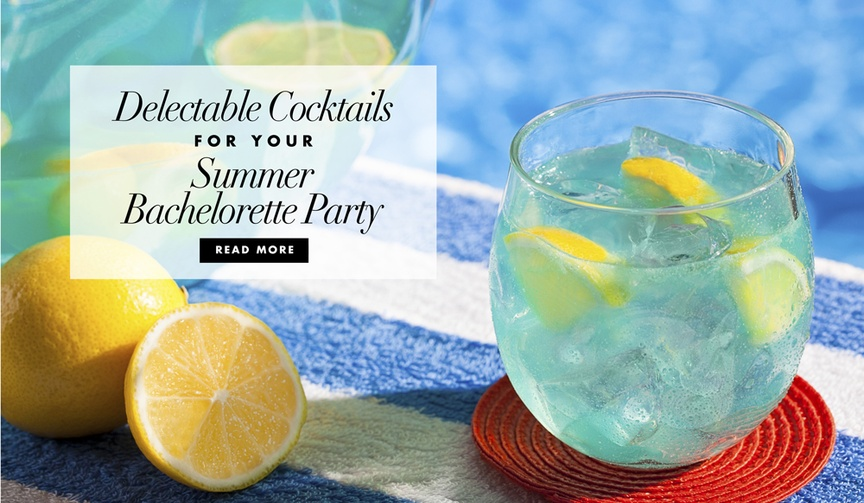 delicious summer cocktails and fun straws to have at your summer bachelorette party