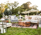 grass lawn wedding ceremony decor ideas shabby chic design cocktail hour