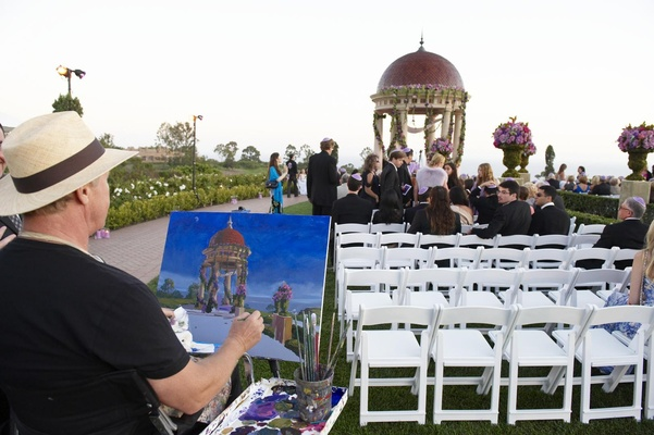Wedding ceremony live event artist painting