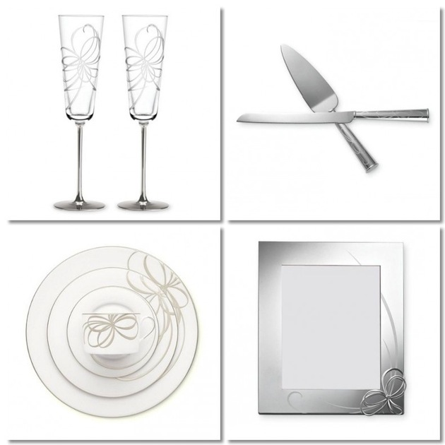 kate spade belle boulevard collection clockwise from left toasting flutes set of two 60 two piece dessert set 60 8 x 10 frame 75