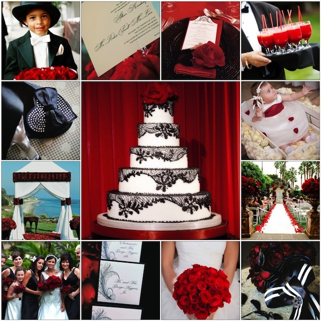 Red black and white wedding color schemes wedding themes inside the massive impact of red white and black junglespirit Images