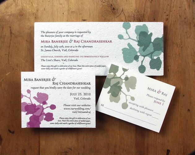 Environmentally Friendly Wedding Invitations: Eco-Friendly Wedding Invitations