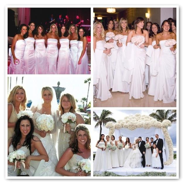 Wearing White To A Wedding.Bridesmaids Wearing White Bridesmaid Dresses Inside Weddings